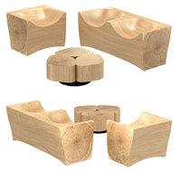 wood sofa armchair tobi model