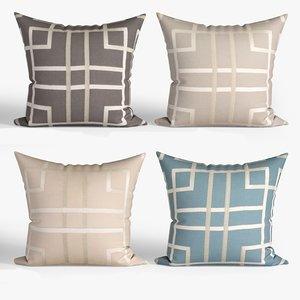 decorative pillows set 064 3D model
