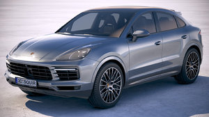 3D porsche cayenne coupe model