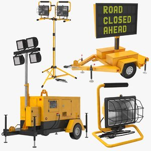 real construction equipment 3D model
