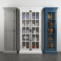 French Casement 2-Door Cabinet