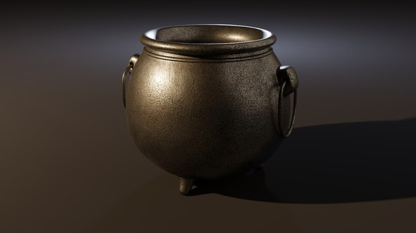 3D cauldron witch apothecaries