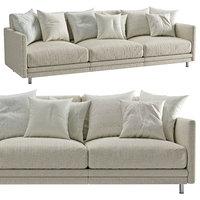3D sofa light 3 seater model
