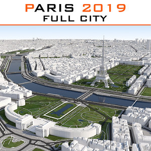 3ds max paris cityscape