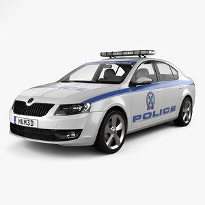 3D skoda octavia police model