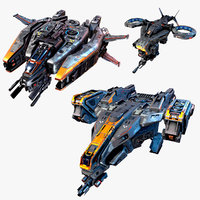 3 SciFi Aircrafts