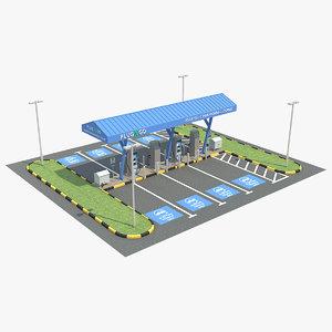 ev charging station 1 3D model