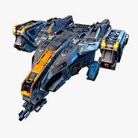 3D starship spacecraft