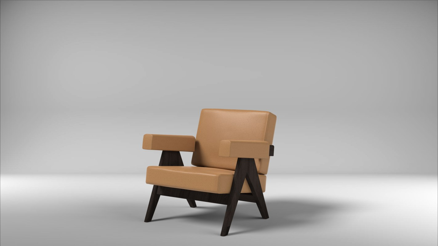 3D jeanneret armchair model