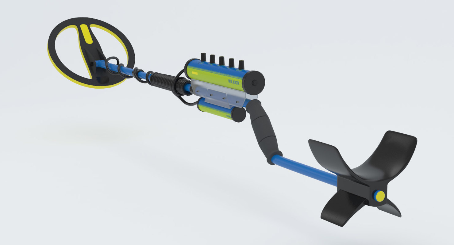 3D underwater metal detector model