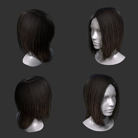 realtime lowpoly hair for games