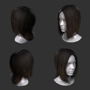 3D realtime hair games model