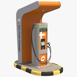ev fast charger 1 3D