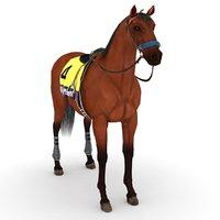 3D horse american pharoah -