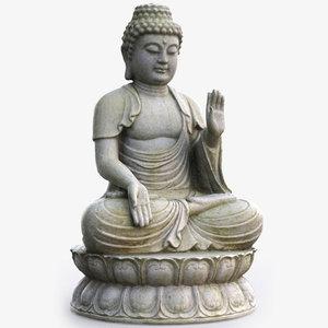 3D balinese buddha statue