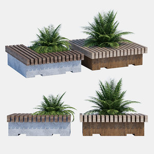 big green benches model