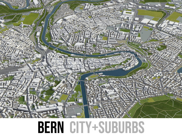 city bern surrounding - 3D model