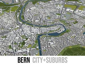 city bern surrounding - 3D model
