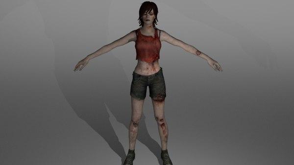 3D model zombie pack
