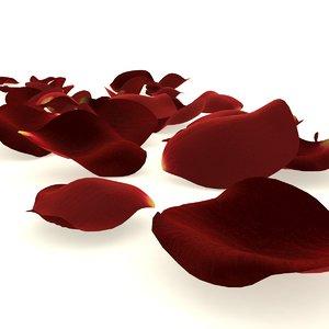 3D flower rose petal red