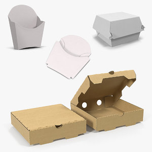 3D fast food containers model