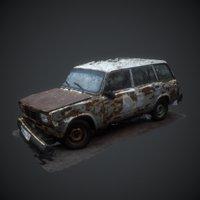 rusted car Lada 4