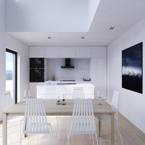 3D loft white