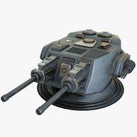 3D heavy kinetic cannon 2 model