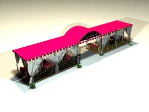 3D restaurant terrace
