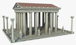 3D structure building architecture model