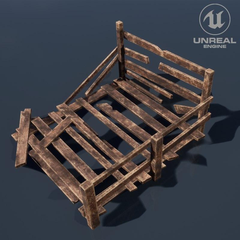 wood arrangement 3D model
