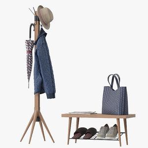 lucy coat rack 3D