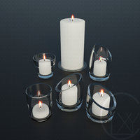 Glass candle holders Candles