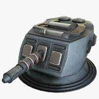 heavy laser cannon 1 3D model