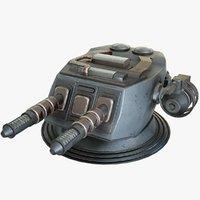 heavy laser cannon 2 3D model