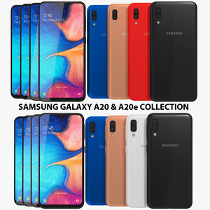 realistic samsung galaxy a20 3D model