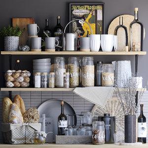 3D kitchen set decor