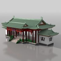 3D chinese entry model