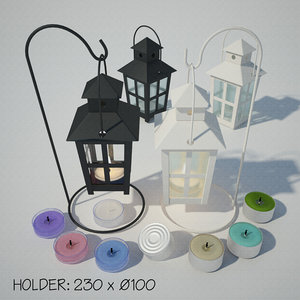 3D lantern stand candle holder