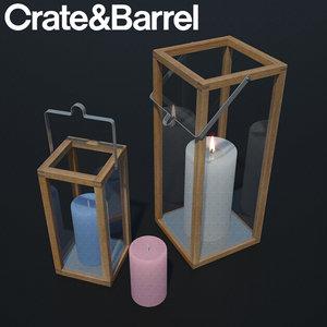 3D lanterns candles crosby