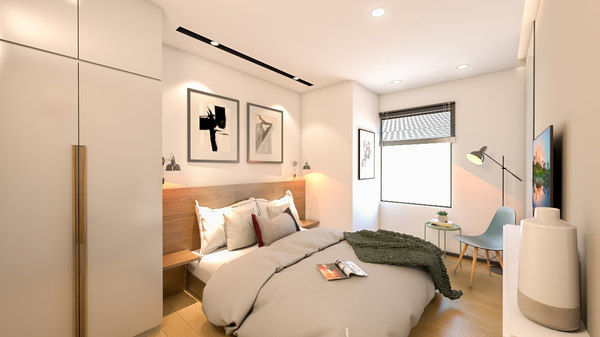apartment bedroom interior 3D model