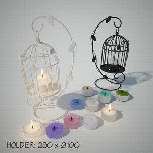 3D lantern stand candle holder model