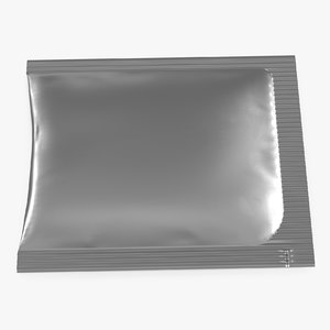 silver foil clear packaging model