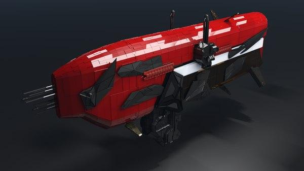 fi spaceship 3D model
