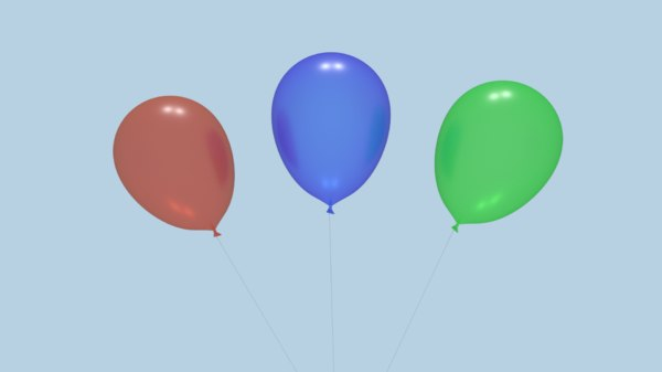 balloons animation 3D