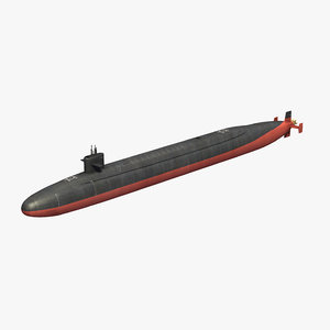 ohio class submarine 3D model