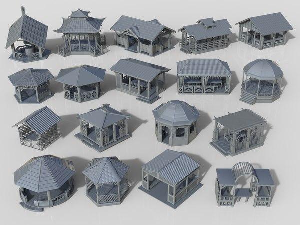 3D arbors 18 pieces