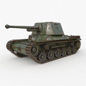 3D model type 3 tank iii