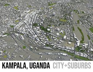 3D city kampala surrounding - model