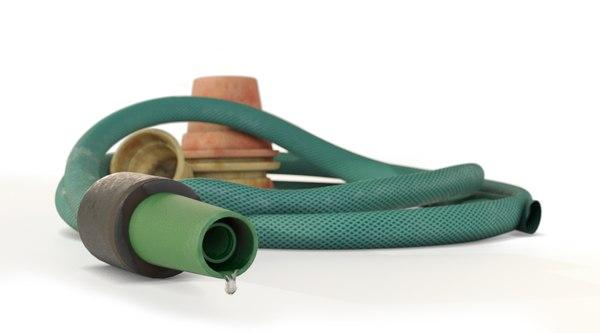 gardener hose flower pots 3D